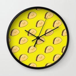 Taco Pattern Wall Clock