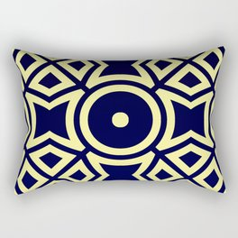 Composition in Texas Yellow and Stratos Blue Rectangular Pillow