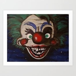 Killer Klowns From Outer Space Art Print