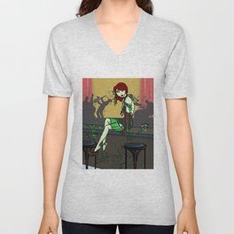 Poison Ivy and the Speakeasy Unisex V-Neck
