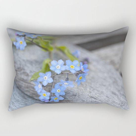 blue flower Fortget Me Not Rectangular Pillow