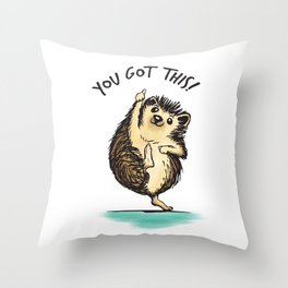 Motivational Hedgehog Throw Pillow