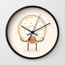 donut loves holidays Wall Clock