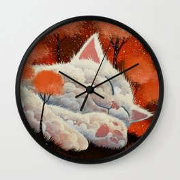 SLEEPING CLOUD by Raphaël Vavasseur Wall Clock