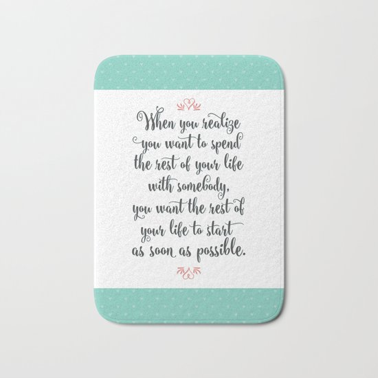 Quote from When Harry Met Sally Bath Mat