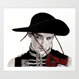 The Red Bandit Art Print