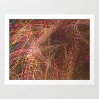 Wispy Rainbow Lights Art Print