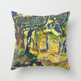 Clearing In Provence - Digital Remastered Edition Throw Pillow