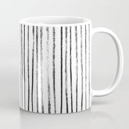 Black Dry Brush Line Pattern (Vertical) Coffee Mug