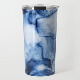 Blue Watercolor/Marble Travel Mug