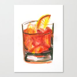 Negroni Cocktail Hour Canvas Print
