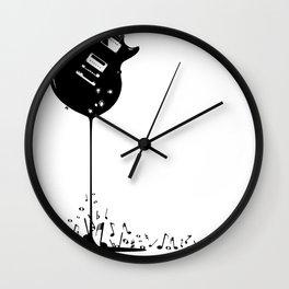 Bubbling Musical Notes Wall Clock