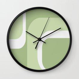 Retro Greens Wall Clock