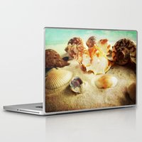 shell Laptop & iPad Skins featuring Shell by brushnpaper