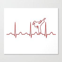Karate Girl Heartbeat Canvas Print