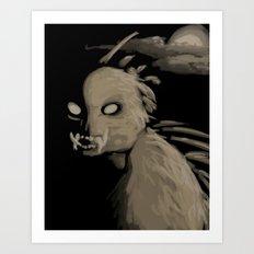 Chupacabra Boy  Art Print