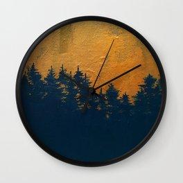 Golden Sunset Wall Clock