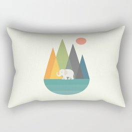 Walk In Peace Rectangular Pillow