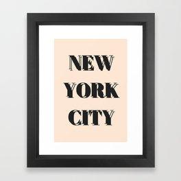 Double Type New York City Framed Art Print