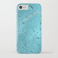 supergirl iPhone & iPod Cases featuring Supergirl by Armine Nersisian
