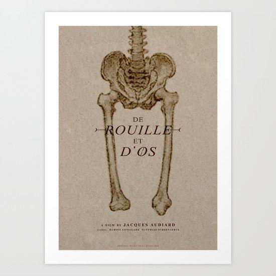 De Rouille Et D'Os - MINIMALIST POSTER Art Print