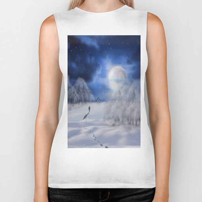 Winter Dreams Biker Tank