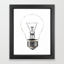 I Have an Idea!  Let there be light... Framed Art Print
