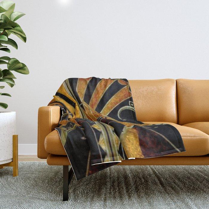art deco wood Throw Blanket