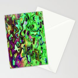 Fucshia and Lime Green in Liquid Color Pattern   Saletta Home Decor Stationery Cards