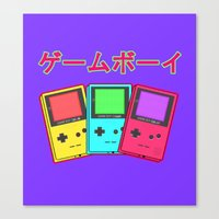 gameboy Canvas Prints featuring Gameboy by Chrome