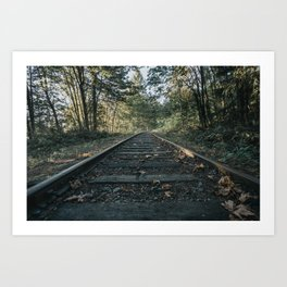 Shawnigan Tracks Art Print