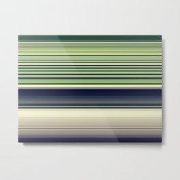 Green Needlework Metal Print