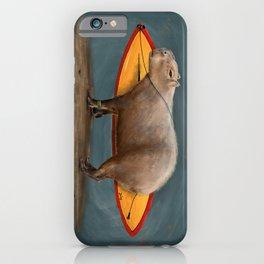 Capybara Surfer iPhone Case