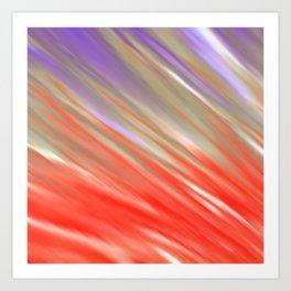 Crimson Aurora Art Print