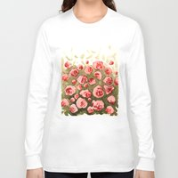 gradient Long Sleeve T-shirts featuring Flowery gradient by Ivanushka Tzepesh