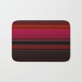 Rich Red Wine Striped Pattern Badematte