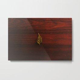LEAF - WOOD - NATURE - PHOTOGRAPHY Metal Print