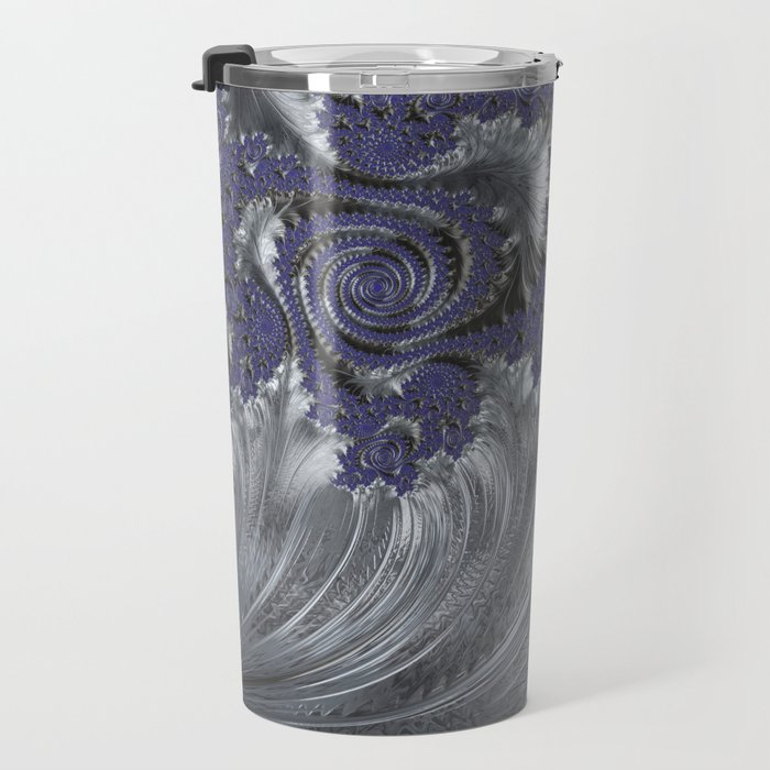 Silver Filigree Travel Mug