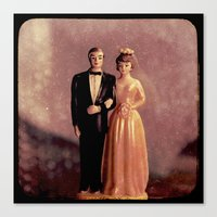 wedding Canvas Prints featuring Wedding by BlueMoonArt