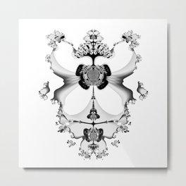 Fractal Art - Angel and Skelleton Metal Print