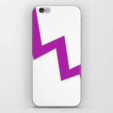 Purple line iPhone & iPod Skin