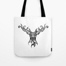 Henna Inspired Stag Head by Ashley-Rose Standish Tote Bag