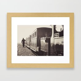 Evesham Railway Framed Art Print