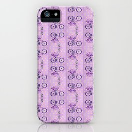 Cycling Flamingo pattern iPhone Case