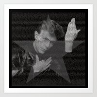 Bowie tribute I Art Print