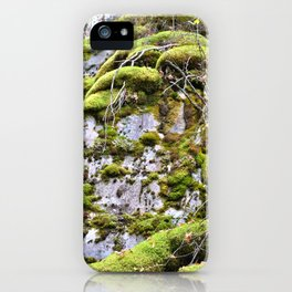 Mossy Rocks iPhone Case