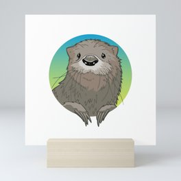 Cute Otter Mini Art Print