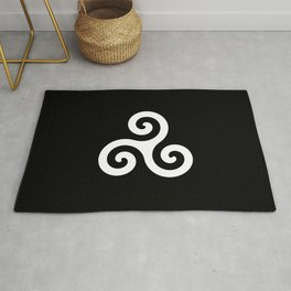 Triskele 10 -triskelion,triquètre,triscèle,spiral,celtic,Trisquelión,rotational Rug