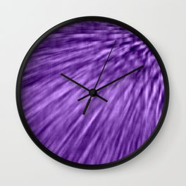 Grape Purple Pixel Wind Wall Clock