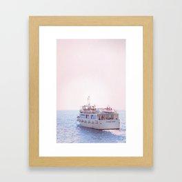 Italian Ferry Framed Art Print